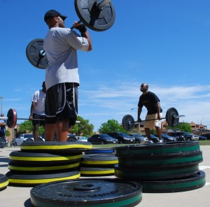 soldiers and Olympic weightlifting
